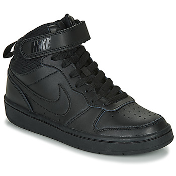 Scarpe Unisex bambino Sneakers alte Nike COURT BOROUGH MID 2 GS Nero