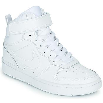 Scarpe Unisex bambino Sneakers alte Nike COURT BOROUGH MID 2 GS Bianco