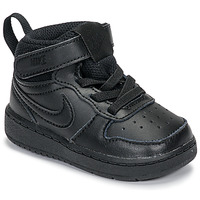 Scarpe Unisex bambino Sneakers alte Nike COURT BOROUGH MID 2 TD Nero