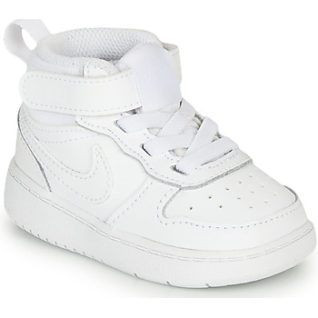 Scarpe Unisex bambino Sneakers alte Nike COURT BOROUGH MID 2 TD Bianco