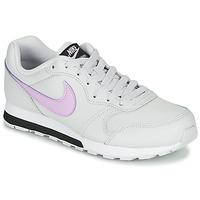 Scarpe Bambina Sneakers basse Nike MD RUNNER GS Bianco / Rosa