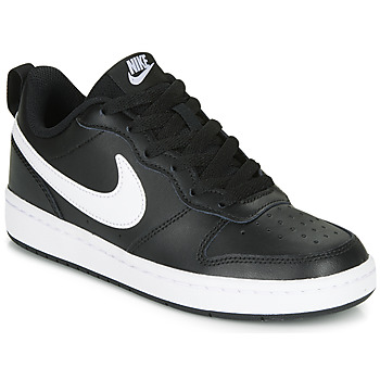 Scarpe Unisex bambino Sneakers basse Nike COURT BOROUGH LOW 2 GS Nero / Bianco