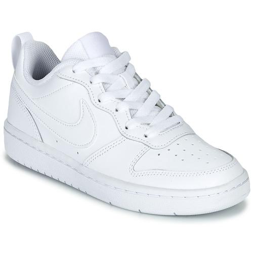 Scarpe Unisex bambino Sneakers basse Nike COURT BOROUGH LOW 2 GS Bianco