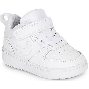 Scarpe Unisex bambino Sneakers basse Nike COURT BOROUGH LOW 2 TD Bianco