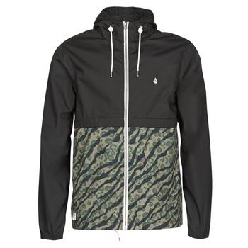 Abbigliamento Uomo giacca a vento Volcom HOWARD HOODED Nero