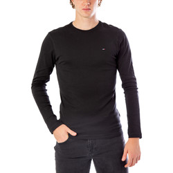 Abbigliamento Uomo T-shirts a maniche lunghe Tommy Hilfiger DM0DM04409 Nero