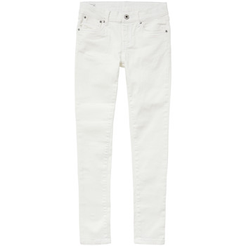 Abbigliamento Bambina Jeans slim Pepe jeans PIXLETTE Bianco