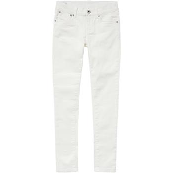 Abbigliamento Bambina Jeans skynny Pepe jeans PIXLETTE Bianco