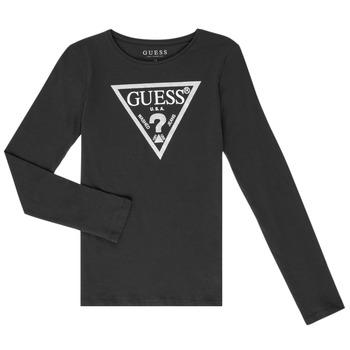 Abbigliamento Bambina T-shirts a maniche lunghe Guess GARICE Nero
