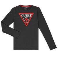 Abbigliamento Bambino T-shirts a maniche lunghe Guess HERVE Nero