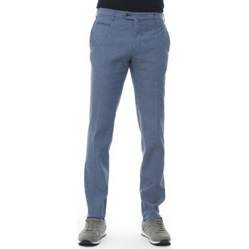 Abbigliamento Uomo Pantaloni Angelo Nardelli Pantalone modello chino Azzurro Lino Uomo azzurro