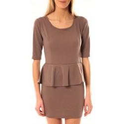 Abbigliamento Donna Abiti corti Tcqb Robe Moda Fashion Taupe Marrone