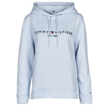 Abbigliamento Donna Felpe Tommy Hilfiger TH ESS HILFIGER HOODIE LS Blu / Cielo