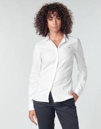 Abbigliamento Donna Camicie Tommy Hilfiger HERITAGE REGULAR FIT SHIRT Bianco