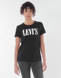 Abbigliamento Donna T-shirt maniche corte Levi's THE PERFECT TEE Nero