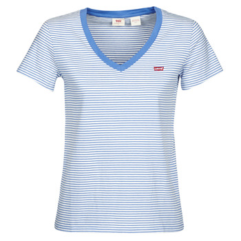 Abbigliamento Donna T-shirt maniche corte Levi's PERFECT VNECK Bianco / Blu