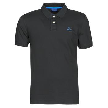 Abbigliamento Uomo Polo maniche corte Gant GANT CONTRAST COLLAR PIQUE POLO Nero / Blu