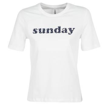 Abbigliamento Donna T-shirt maniche corte Only ONLSANNE Bianco