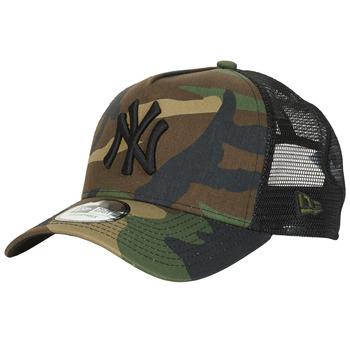 Accessori Cappellini New-Era CLEAN TRUCKER NEW YORK YANKEES Camouflage / Kaki