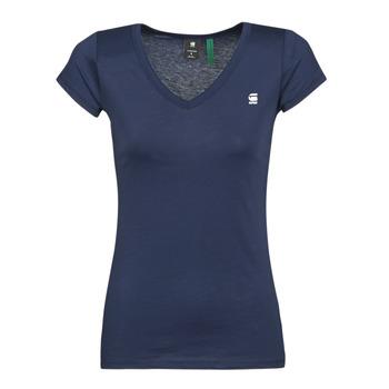 Abbigliamento Donna T-shirt maniche corte G-Star Raw EYBEN SLIM V T WMN SS Blu