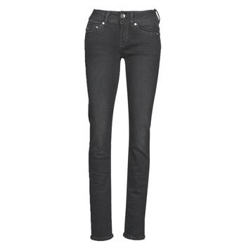 Abbigliamento Donna Jeans dritti G-Star Raw MIDGE MID STRAIGHT WMN Grigio / Scuro