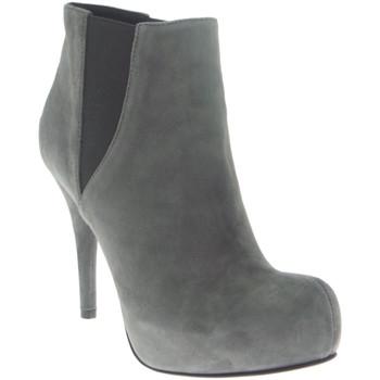 Scarpe Donna Stivaletti Lella Baldi - Tronchetto grigio 100% camoscio D3134 Multicolore