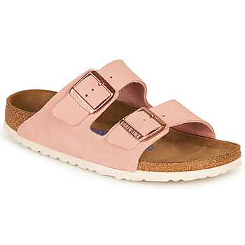 Scarpe Donna Ciabatte Birkenstock ARIZONA SFB LEATHER Rosa