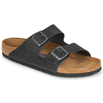Scarpe Uomo Ciabatte Birkenstock ARIZONA SFB LEATHER Nero