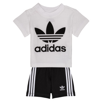 Abbigliamento Bambino Completo adidas Originals CAROLINE Bianco / Nero