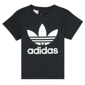 Abbigliamento Unisex bambino T-shirt maniche corte adidas Originals LEILA Nero