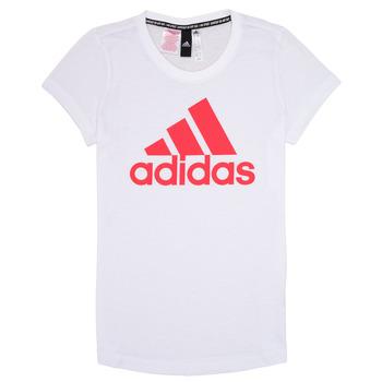 Abbigliamento Bambina T-shirt maniche corte adidas Performance ELIOTE Bianco