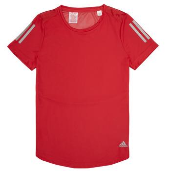 Abbigliamento Bambina T-shirt maniche corte adidas Performance MELINDA Rosso