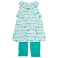 Abbigliamento Bambina Completo Emporio Armani Adel Bianco / Blu