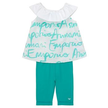 Abbigliamento Bambina Completo Emporio Armani Alex Bianco / Blu