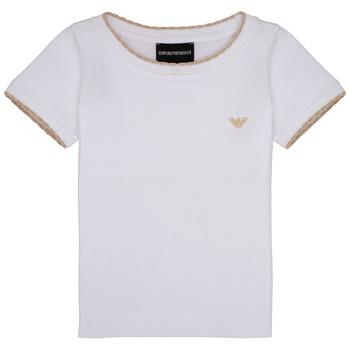 Abbigliamento Bambina T-shirt maniche corte Emporio Armani Allan Bianco