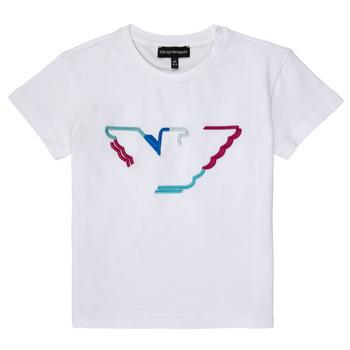 Abbigliamento Bambina T-shirt maniche corte Emporio Armani Amin Bianco