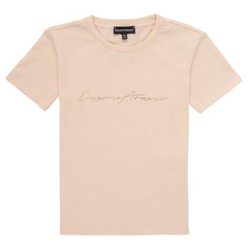 Abbigliamento Bambina T-shirt maniche corte Emporio Armani Armel Rosa