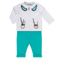 Abbigliamento Bambina Completo Emporio Armani Aubin Bianco / Blu