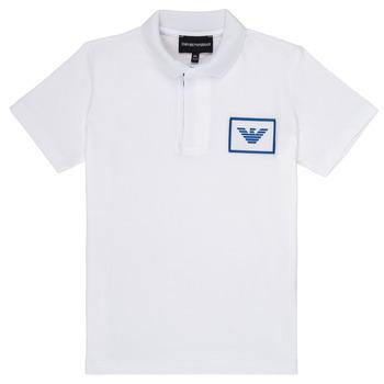 Abbigliamento Bambino Polo maniche corte Emporio Armani Aime Bianco