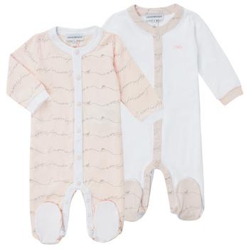 Abbigliamento Bambina Pigiami / camicie da notte Emporio Armani Alec Rosa