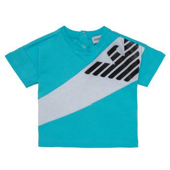 Abbigliamento Bambino T-shirt maniche corte Emporio Armani Alois Blu / Bianco