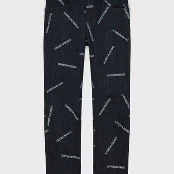 Abbigliamento Bambino Jeans dritti Emporio Armani Adil Blu