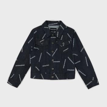 Abbigliamento Bambino Giacche in jeans Emporio Armani Angelo Blu