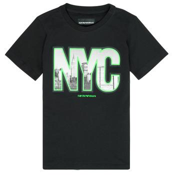 Abbigliamento Bambino T-shirt maniche corte Emporio Armani Ambroise Nero