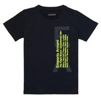 Abbigliamento Bambino T-shirt maniche corte Emporio Armani Andoni Marine