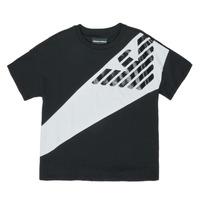 Abbigliamento Bambino T-shirt maniche corte Emporio Armani Blaise Nero / Bianco