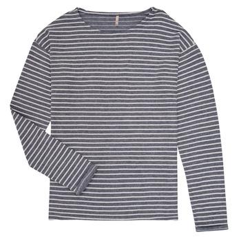 Abbigliamento Bambina T-shirts a maniche lunghe Only KONNELLY Bianco / Marine