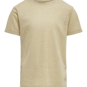 Abbigliamento Bambina T-shirt maniche corte Only KONSILVERY Oro