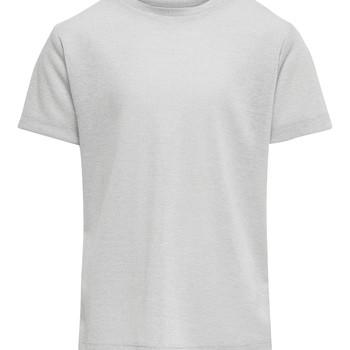 Abbigliamento Bambina T-shirt maniche corte Only KONSILVERY Argento