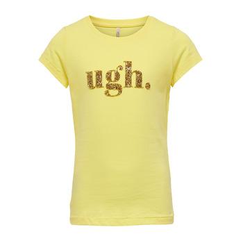 Abbigliamento Bambina T-shirt maniche corte Only KONJULLA Giallo